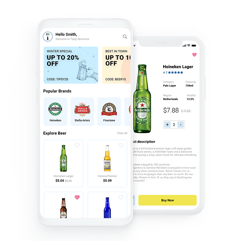 Tipsy Deliveries – On demand Beer Delivery App