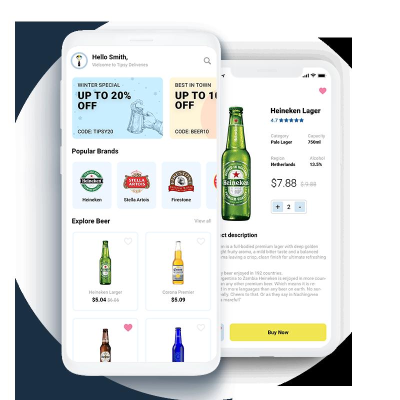 Tipsy Deliveries – On demand Beer Delivery App